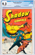 Golden Age (1938-1955):Crime, Shadow Comics V9#4 (Street & Smith, 1949) CGC NM- 9.2 White pages....