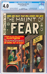 Haunt of Fear #17 (#3) (EC, 1950) CGC VG 4.0 Cream to off-white pages
