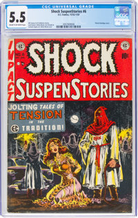 Shock SuspenStories #6 (EC, 1952) CGC FN- 5.5 Cream to off-white pages