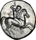 Ancients:Greek, Ancients: CALABRIA. Tarentum. Ca. 332-302 BC. AR stater or didrachm (21mm, 7h). NGC VF, smoothing....