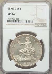 1875-S/CC T$1 MS62 NGC. The overmintmark feature is not represented on the holder's insert, but the coin is FS-501. NGC...