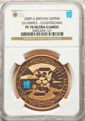 """Great Britain: Elizabeth II gold Proof """"Olympics"""" 5 Pounds 2009 PR70 Ultra Cameo NGC"""