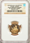 "Great Britain: Elizabeth II gold Proof ""London 2012 Olympics"" 25 Pounds 2010 PR70 Ultra Cameo NGC"