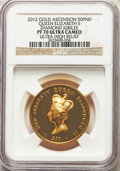 """Great Britain, Great Britain: Elizabeth II gold Proof """"Diamond Jubilee"""" 50 Pounds 2012 PF70 Ultra Cameo NGC,..."""