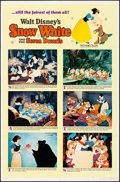 """Movie Posters:Animation, Snow White and the Seven Dwarfs & Other Lot (Buena Vista, R-1967). Folded, Overall: Very Fine-. One Sheets (2) (27"""" X 41"""") S... (Total: 2 Items)"""