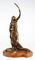 "Fine Art - Sculpture, American, Lewis Murray ""Bud"" Boller (American, 1928-2012). Gathering Power, 1978. Bronze with brown patina. 20-5/8 inches (52.4 cm..."