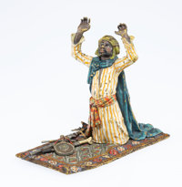A Franz Bergman Vienna Cold Painted Bronze Figure of a Warrior at Prayer, early 20th century Marks: 3834 B