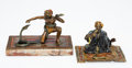 Bronze, Two Franz Bergman and Unattributed Vienna Cold Painted Bronze Snake Charmer Figures, early 20th century. Marks to smaller: ... (Total: 2 Items)
