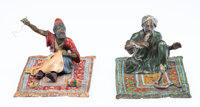 A Group of Two Franz Bergman Vienna Cold Painted Bronze Figures of a Tailor and Snake Charmer, early 20th century