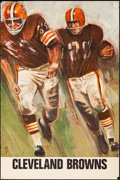 "Movie Posters:Sports, Cleveland Browns & Other Lot (NFL, 1966). Rolled, Fine+. Posters (2) (24.25"" X 36"") Dave Boss Artwork. Sports.. ..."