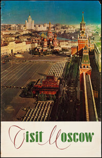 """Visit Moscow (Intourist, 1960s). Rolled, Fine/Very Fine. Travel Poster (26.75"""" X 41.75""""). Foreign"""