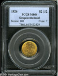Commemorative Gold: , 1926 $2 1/2 Sesquicentennial MS64 PCGS....