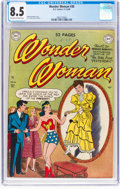 Golden Age (1938-1955):Superhero, Wonder Woman #38 (DC, 1949) CGC VF+ 8.5 Off-white to white pages....