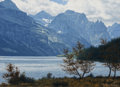 Paintings:Contemporary   (1950 to present), Denis Milhomme (American, b. 1954). Mountain Majesty. Oil on board. 5 x 7 inches (12.7 x 17.8 cm). Signed lower right: ...