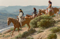 Fine Art - Painting, American:Contemporary   (1950 to present), David Nordahl (American, b. 1941). Chiricahua Raiding Party, 1985. Oil on board. 12 x 18 inches (30.5 x 45.7 cm). Signed...