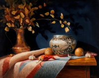 Sue Krzyston (American, b. 1948) Still Life Oil on canvas 24 x 30 inches (61 x 76.2 cm) Signed