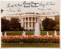 Autographs:U.S. Presidents, White House Color Photograph Signed by Three Presidents and Four First Ladies. ...
