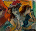 Fine Art - Painting, American:Contemporary   (1950 to present), Robert Philipp (American, 1895-1981). Theatre #2. Oil on canvas. 12-1/4 x 14 inches (31.1 x 35.6 cm). Signed upper right...