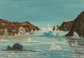 Paintings:Contemporary   (1950 to present), Emile Walters (American, 1893-1977). Tunulliarfik Fjord, Greenland, 1956. Oil on canvas. 22 x 32 inches (55.9 x 81.3 cm)...