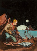 Paintings, Ed Valigursky (American, 1926-2009). Planet of No Return paperback cover, 1956. Acrylic on board. 15-3/4 x 11-3/4 in. (s...