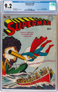 Superman #20 (DC, 1943) CGC NM- 9.2 Off-white to white pages