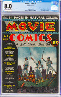 Movie Comics #1 (DC, 1939) CGC VF 8.0 Off-white to white pages