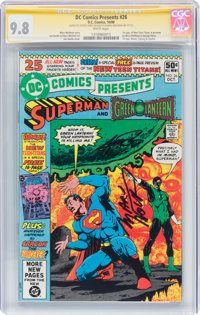 DC Comics Presents #26 Superman and Green Lantern - Signature Series (DC, 1980) CGC NM/MT 9.8 White pages