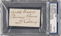 Baseball Collectibles:Others, 1930's Lou Gehrig Signed Cut Signature, PSA/DNA Mint 9....