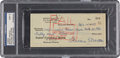 Baseball Collectibles:Others, 1959 Mickey Mantle Signed Check to MLB Player's Association, PSA/DNA Mint 9....