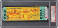 Baseball Collectibles:Tickets, 1956 World Series Game Five (Larsen Perfect Game) Full Ticket Proof, PSA Mint 9....