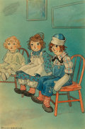 Fine Art - Painting, American, Johnny Gruelle (American, 1880-1938). Raggedy Ann and Andy, Marcella interior illustration, 1929. Watercolor and ink on ...