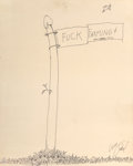 Works on Paper, Shel Silverstein (American, 1932-1999). Fuck Farming. Ink on paper. 19-3/4 x 15-3/4 inches (50.2 x 40.0 cm) (sheet). Sig...