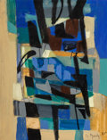 Paintings:Contemporary   (1950 to present), Marcel Mouly (French, 1918-2008). Sans titre, 1955. Oil on canvas. 12-3/4 x 9-3/4 inches (32.4 x 24.8 cm). Signed and da...