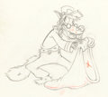Animation Art:Production Drawing, The Practical Pig Big Bad Wolf Animation Drawing (Walt Disney, 1939).. ...