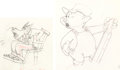 Animation Art:Production Drawing, The Practical Pig Pair of Vintage Animation Drawings (Walt Disney, 1939).. ... (Total: 2 Original Art)