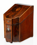Furniture, An English Mahogany Knife Box, early 19th century. 15-1/2 x 9-3/8 x 12-1/2 inches (39.4 x 23.8 x 31.8 cm). ...