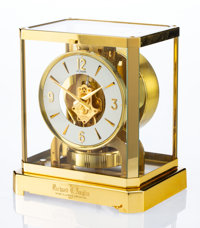 A Jaeger-LeCoultre Brass and Glass Atmos Clock, Le Sentier, Le Chenit, Switzerland, circa 1967 Marks to mechanism: