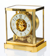 A Jaeger-LeCoultre Brass and Glass Atmos Clock, Le Sentier, Le Chenit, Switzerland, circa 1970 Marks to mechanism
