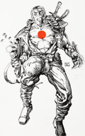 Original Comic Art:Covers, Barry Smith Bloodshot #1 Cover Original Art (Valiant, 1993)....