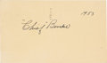 Baseball Collectibles:Others, 1953 Chief Bender Signed Government Postcard....