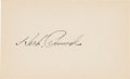 Baseball Collectibles:Others, 1940's Herb Pennock Signed Index Card....