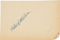 Baseball Collectibles:Others, 1931 Hack Wilson Signed Index Card....