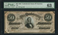 Confederate Notes:1864 Issues, T66 $50 1864 PF-8 Cr. 499 PMG Choice Uncirculated 63.. ...