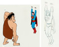 Animation Art:Production Cel, The Adventures of Superboy Production Cel Setups with Animation Drawing and Master Background (Filmation, 1966-67).... (Total: 5 Items)