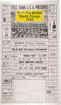 Football Collectibles:Others, 1962 Green Bay Packers Calendar Advertisement Poster. ...
