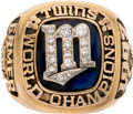 Baseball Collectibles:Others, 1987 Minnesota Twins World Series Championship Ring Presented to Scout Cal Ermer....