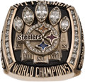 Football Collectibles:Others, 2005 Pittsburgh Steelers Super Bowl XL Championship Ring Presented to Safety Tyrone Carter....