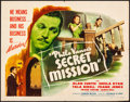 "Movie Posters:Mystery, Philo Vance's Secret Mission (PRC, 1947). Folded, Fine/Very Fine. Half Sheet (22"" X 28""). Mystery.. ..."