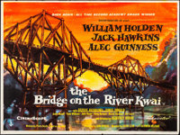 "The Bridge on the River Kwai (Columbia, R-1960s). Folded, Very Fine-. British Quad (30"" X 40"") Artwork Style..."