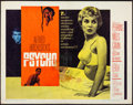 """Movie Posters:Hitchcock, Psycho (Paramount, 1960). Folded, Fine-. Half Sheet (22"""" X 28"""") Style A. Hitchcock. . ..."""